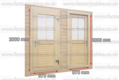 Bespoke Log Cabins Windows and Doors