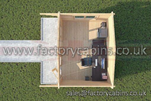 Log Cabins Newmarket - 4.0m x 3.0m - 2062