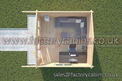 Log Cabins Woodbridge - 4.0m x 4.0m -2065