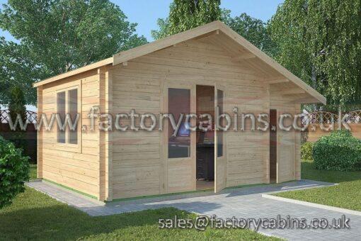 Factory Log Cabins Wem - FCCR3024-2080