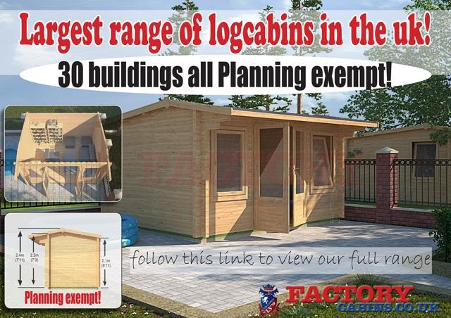 2.5m Log Cabins